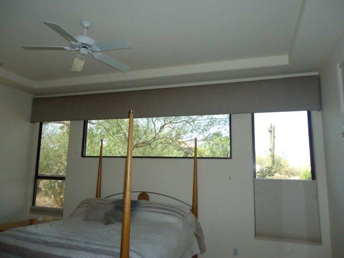 Cornice Box over windows in a bedroom