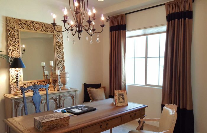 dining space with panelled window
