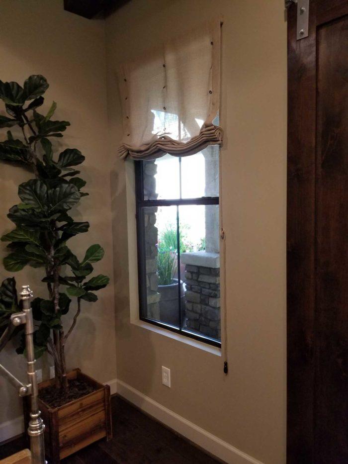 room corner with window