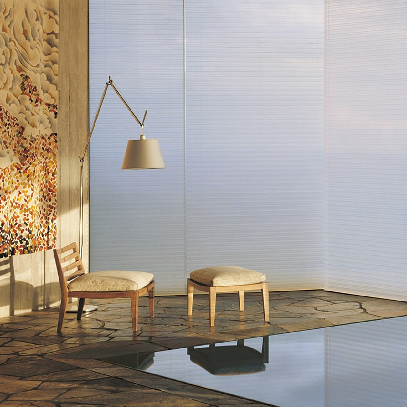 reflective glass walls