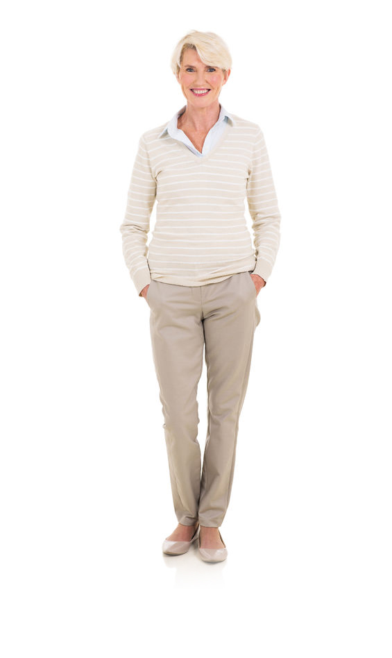 woman dressed in smart casuals