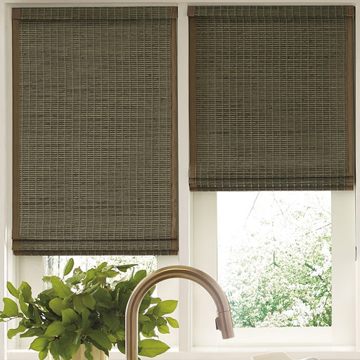 kitchen shade styles gilbert - Provenance Woven Wood Shades - living room